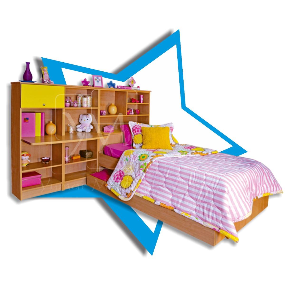 Juego de cuarto para ni a de yumar muebles modelo sabrina - Muebles para cuarto de nina ...