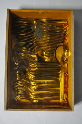 juego de cubiertos gaudix acero inox