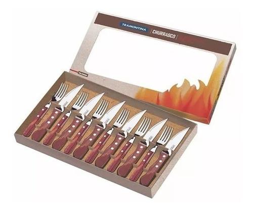 juego de cubiertos jumbo tramontina churrasco polywood x 12