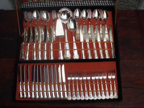juego de cubiertos silver plate made in italy 76 piezas