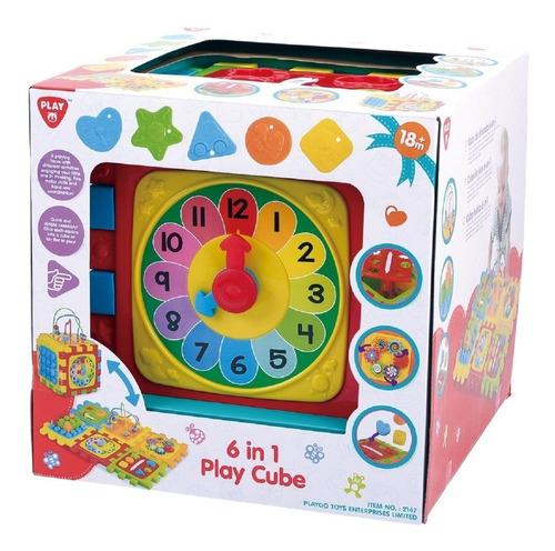 juego de cubo didactico bebe 6 en 1 play