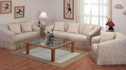 Juego de cubre sala lavable en casa de concord omm for Fundas para muebles de sala modernos