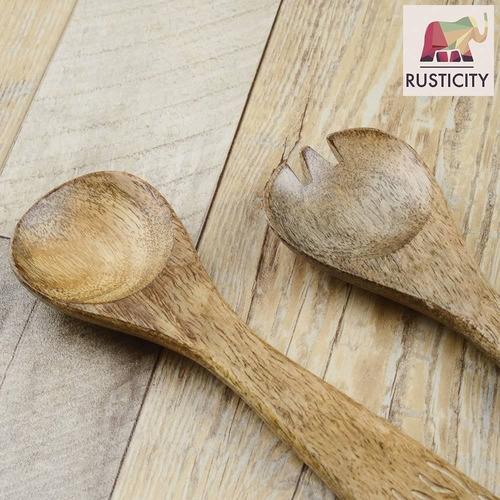 juego de cuchara de madera y cuchara de mader + envio gratis