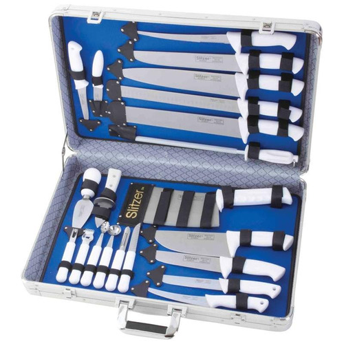 juego de cuchillos de chef c/maletin 21 piezas envio gratis