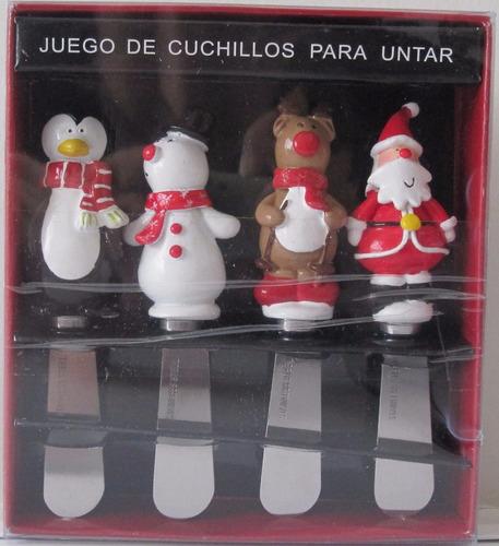 juego de cuchillos figuras navideñas p/ untar - hasta 30 nov
