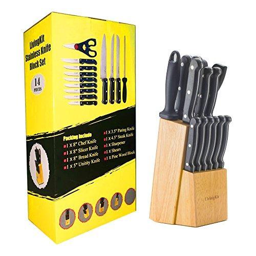 juego de cuchillos livingkit 14 piezas cuchillos de cocina j