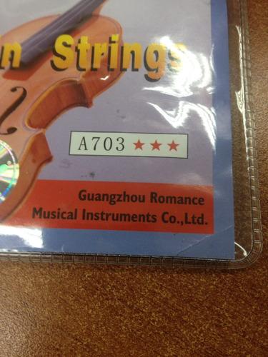 juego de cuerdas alice a703 para violín