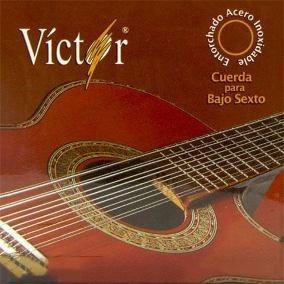 juego de cuerdas bajo sexto víctor mod vcbs-80