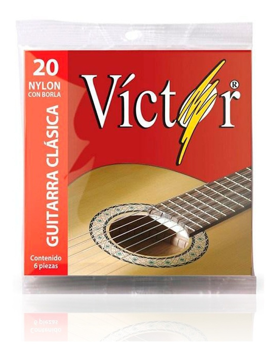 Juego De Cuerdas Guitarra Nylon Victor Con  Borla Cv