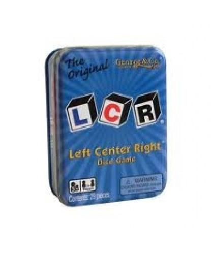 juego de dados lcr® left center right  - blue tin