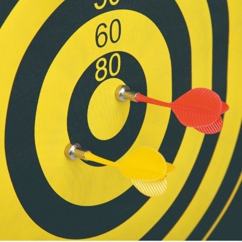 juego de dardos magneticos con tablero y estuche cilindrico
