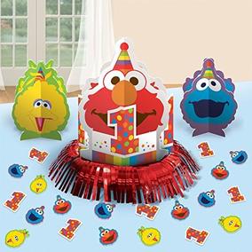 Juego De Decoracion De Mesa Sesame Street 1st Birthday  elmo