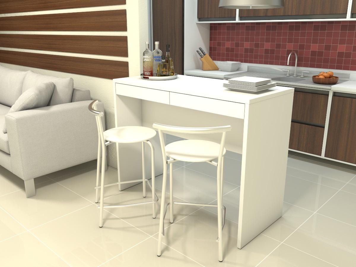 Juego de desayunador con 2 bancos cromados mesa de cocina for Desayunador para cocina