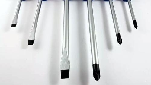 juego de destornilladores de golpe x 6 piezas uyustools g604