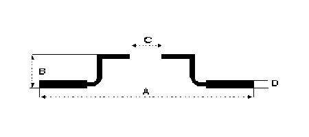 juego de discos delanteros corven ford ka 1996/  ventilado
