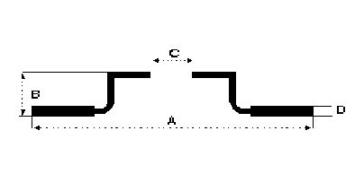 juego de discos delanteros vento 2.5 2007/ ø288 ventilado