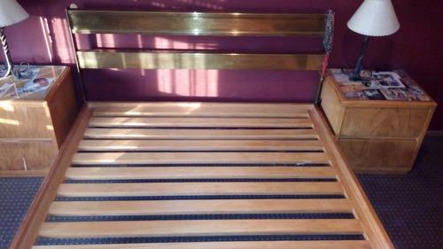 Juego de dormitorio cama 2 plazas mesas de luz 20 for Juego de dormitorio usado