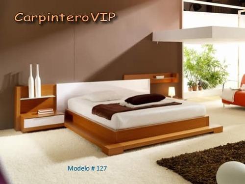 juego de dormitorio camas estilo minimalista diseño italiano