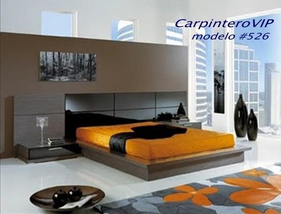 Juego de dormitorio camas estilo minimalista moderno bs for Cama minimalista