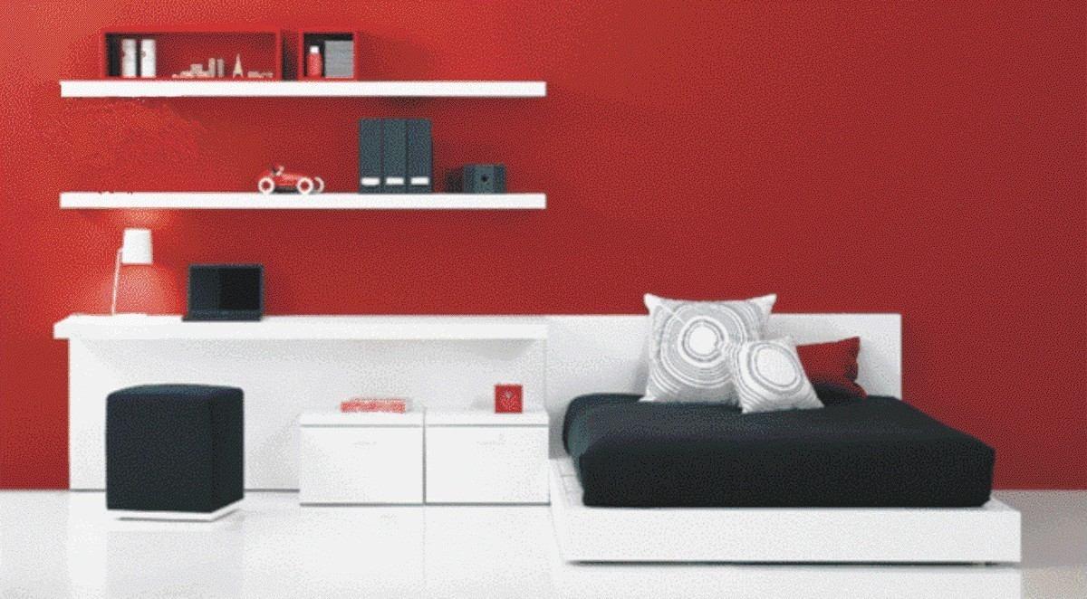 Juego De Dormitorio Minimalista 6 900 00 En Mercado Libre # Muebles Hattori Design