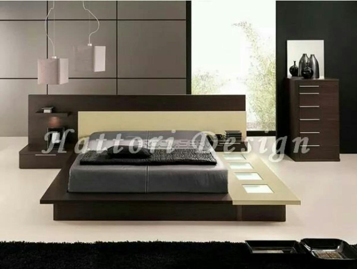 Juego De Dormitorio Minimalista 12 000 00 En Mercado Libre # Muebles Hattori Design