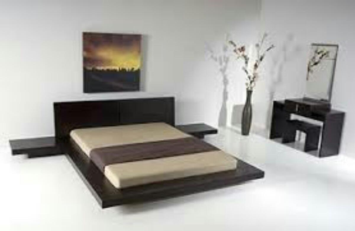 Juego De Dormitorio Minimalista 7 800 00 En Mercado Libre # Muebles Hattori Design