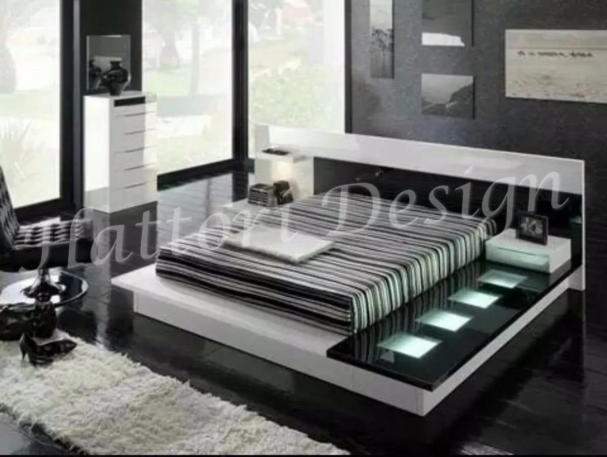 Juego De Dormitorio Minimalista 9 700 00 En Mercado Libre # Muebles Hattori Design