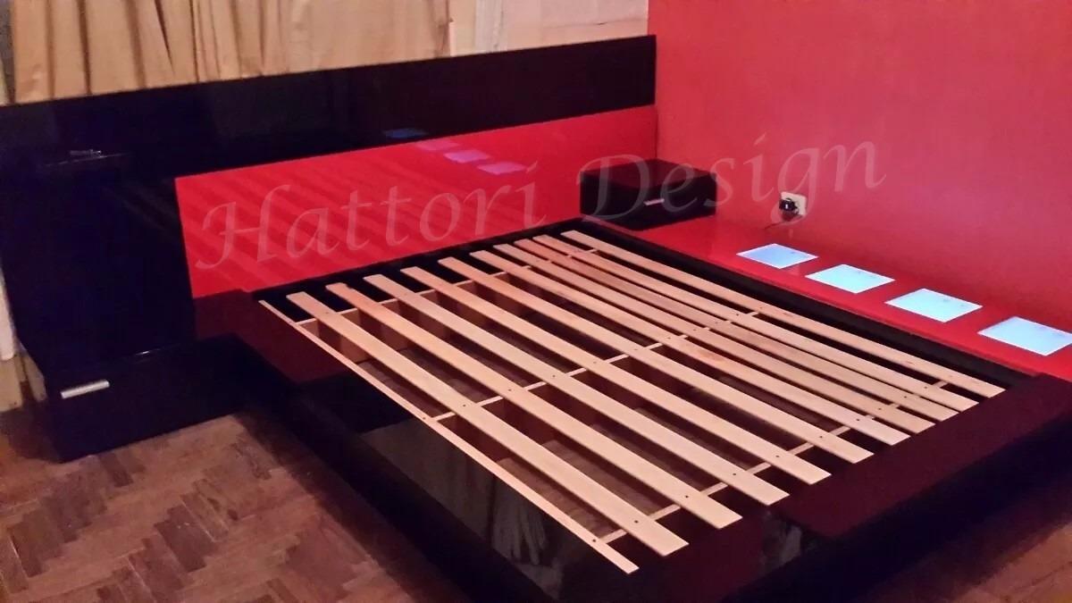 Juego De Dormitorio Moderno 8 900 00 En Mercado Libre # Muebles Hattori Design