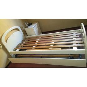Juego De Dormitorio Niños, Cama 1 Plaza +carrito+mesa De Luz