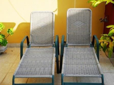 juego de dos sillas de jardín