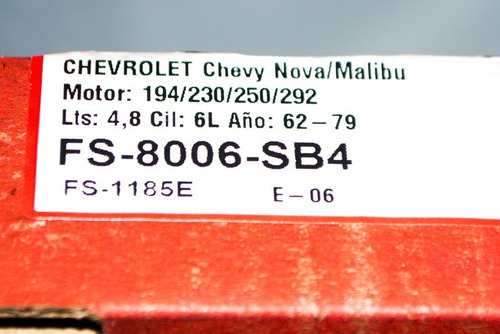 juego de empacaduras malibu chevy nova fs-8006-sb4