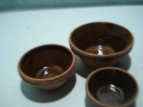 juego de envases losa  para salsas (combo 3 pzas)