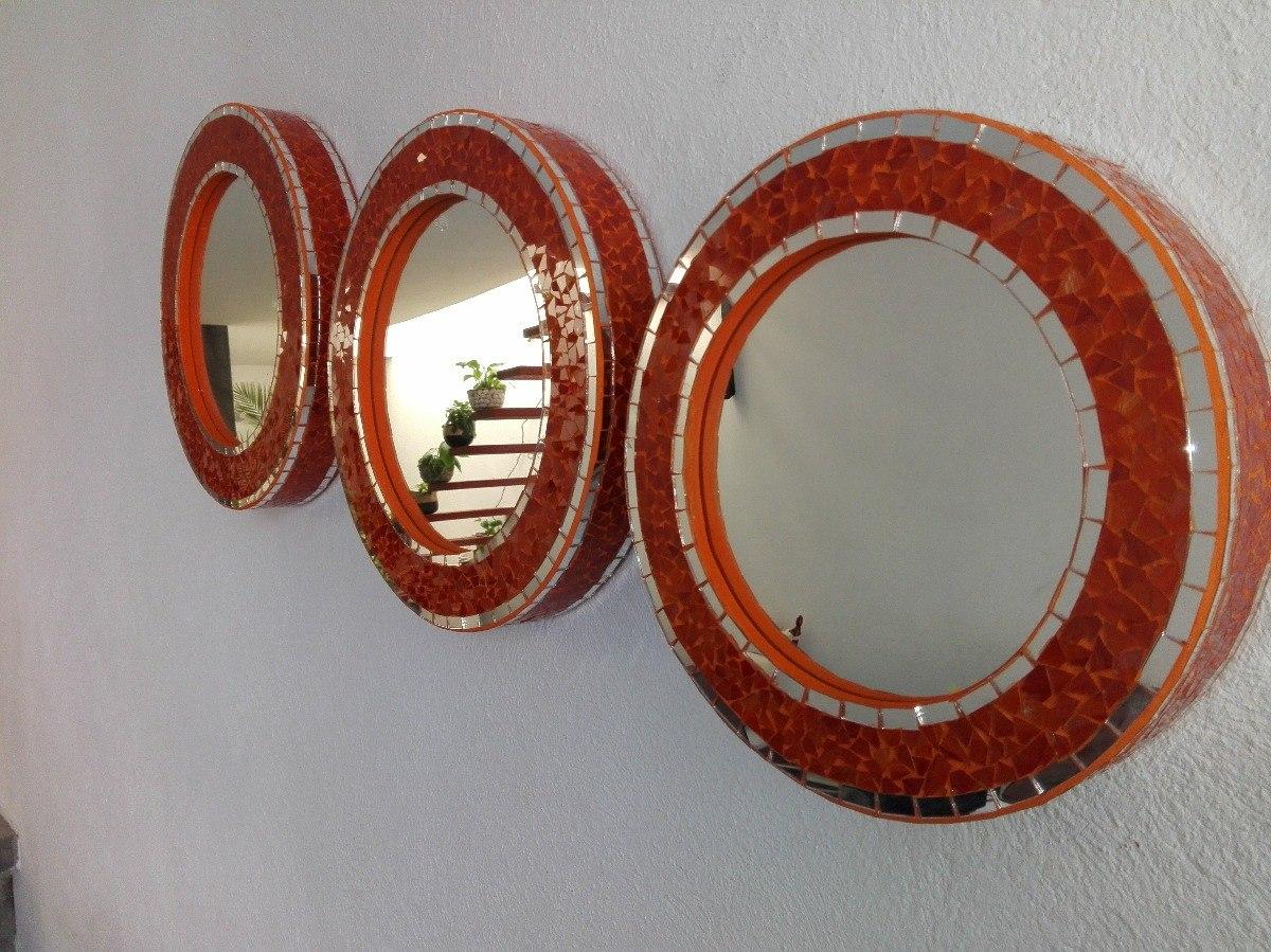 juego de espejos artesanales decorativos 1 en