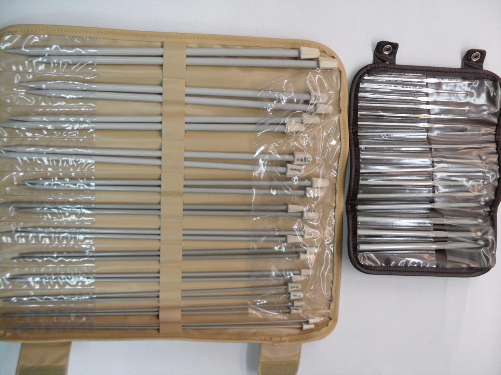 Juego de estuches de gancho y agujas para tejer 1 000 - Bolsa para guardar agujas de tejer ...
