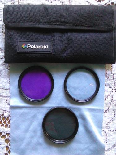 juego de filtros de 3 piezas plr optics 52 mm