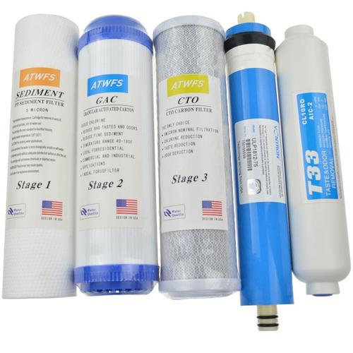 juego de filtros repuesto osmosis inversa incluye membrana