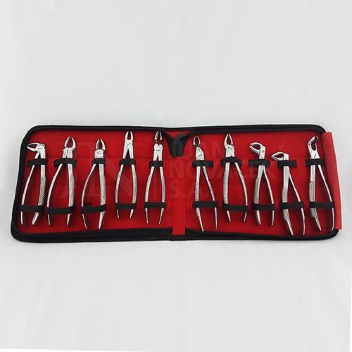 juego de forceps dentales adultos x 10 u + juego niños x 6 u