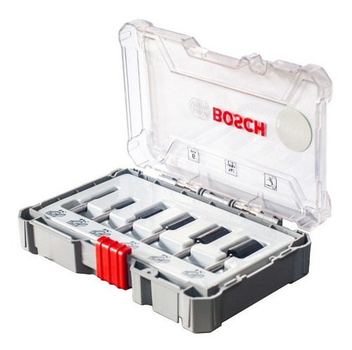 juego de fresas para router bosch 6 unid 1/4 ranura recta
