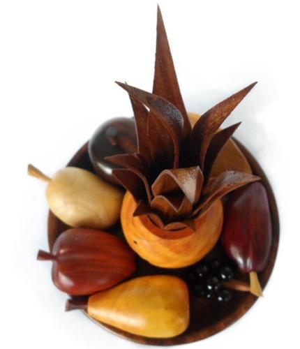 juego de frutas de madera 100% artesanía de lara