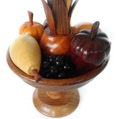 juego de frutas de madera 100% artesanía decoración hogar