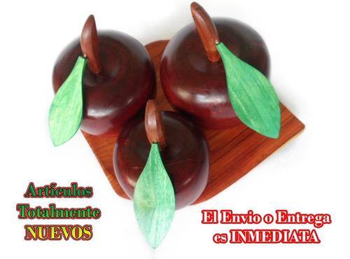 juego de frutas de maderas 100% artesanía hogar mesa adorno