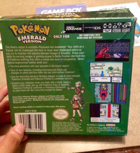 juego de gameboy advance: pokémon esmerald version