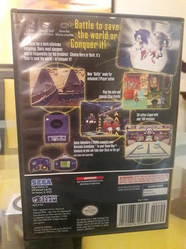 juego de gamecube original: sonic adventure 2 battle