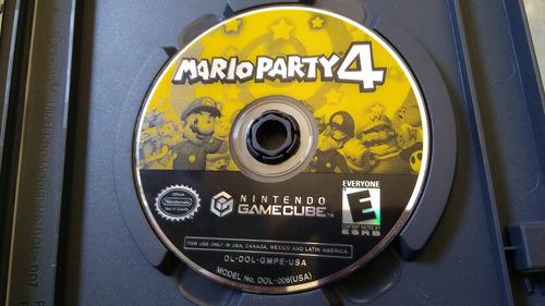 juego de gamecube original,mario party 4