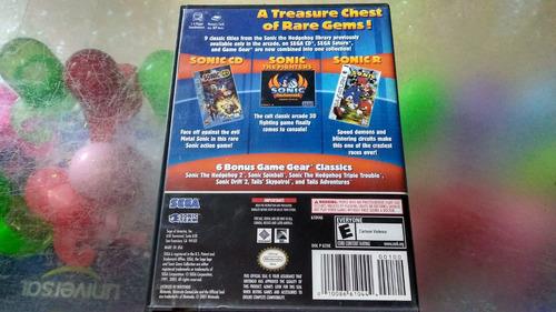juego de gamecube original,sonic gems collection