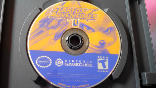 juego de gamecube original,starfox adventures