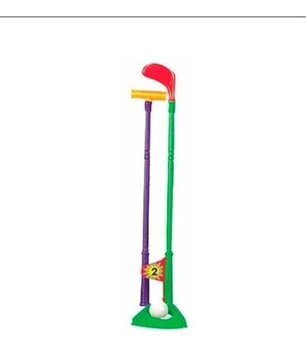 juego de golf de juguete 3 palos 4 pelotas bolsa r&m babies