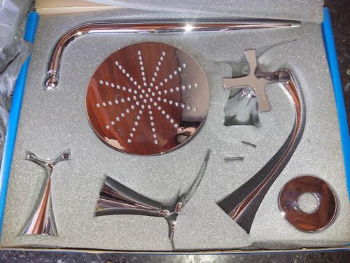 juego de griferia baño alesia fv ducha bidet y lavatorio