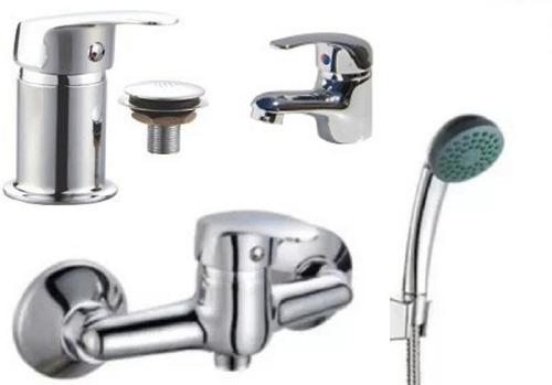 juego de griferia monocomando ducha lavatorio bidet nuevos