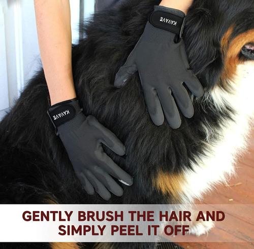 juego de guante y cepillo de aseo para mascotas, remove
